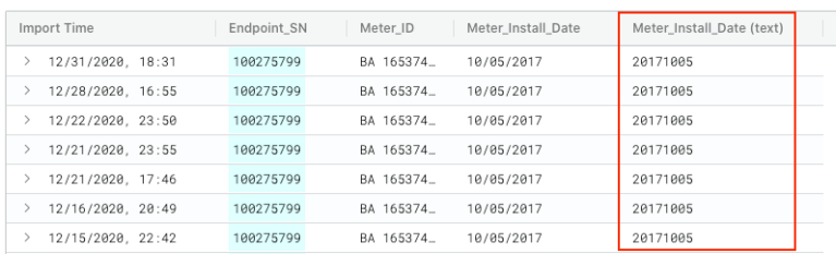 Meter Install Date (text)